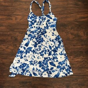Old Navy dress, size XS. White with blue flowers